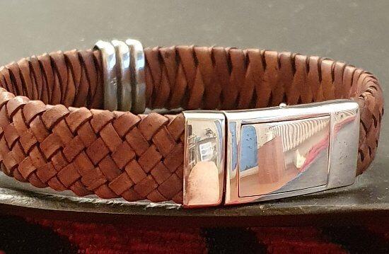 herrenarmband-leder-silber-corrado-schmuckwerkstatt